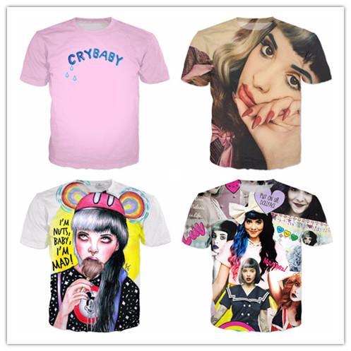 Yeni Moda Erkek / Bayanlar Melanie Martinez Konser T-Shirt Yaz Tarzı Komik Unisex 3D Baskı Rahat T-Shirt AA367