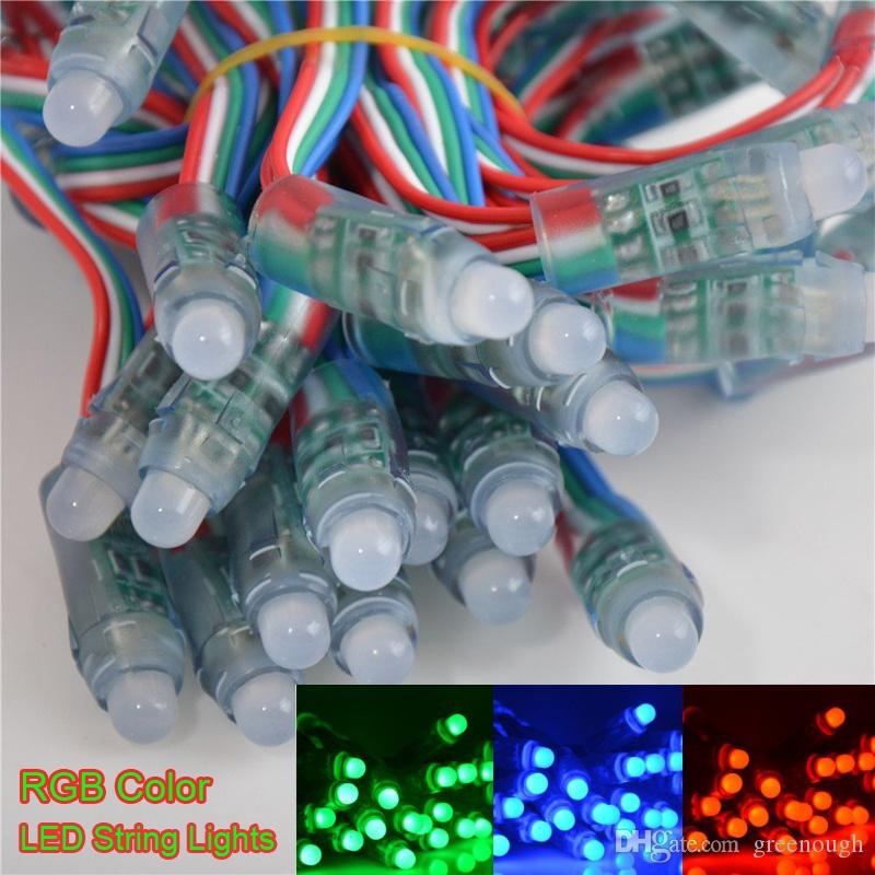 1000pcs 12mm RGB Led 픽셀 빛 Moudle 조명 없음 IC DC 5V LED 문자열 조명 IP68 방수 XMAS 휴일 파티 결혼식 장식