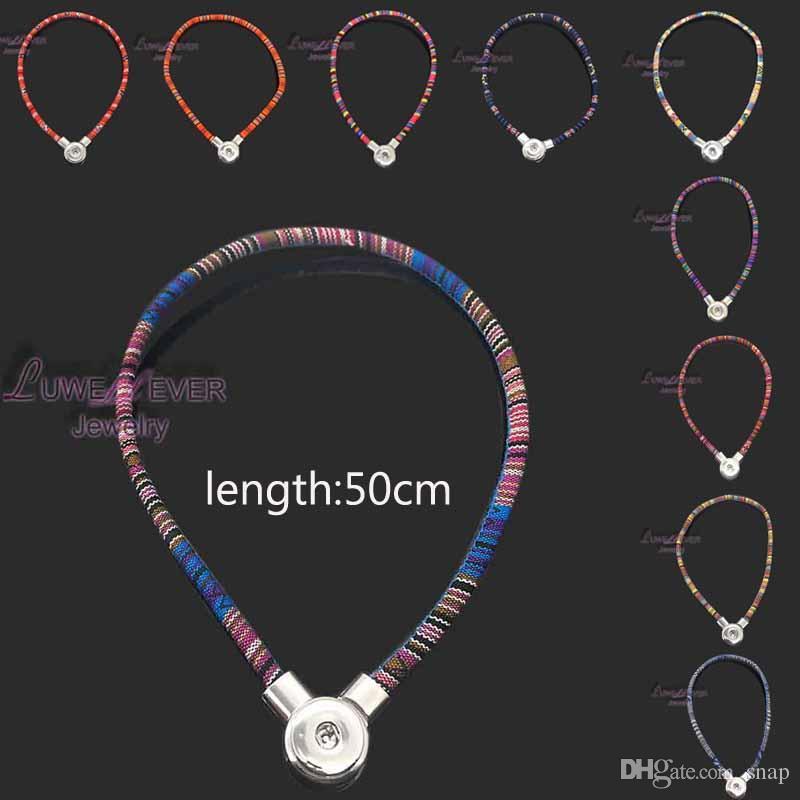 alta qualità 067 stile nazionale della Boemia fai da te con bottone a pressione a scatto magnetico collana pendente ciondolo per le donne e gli uomini Fit 18mm pulsante