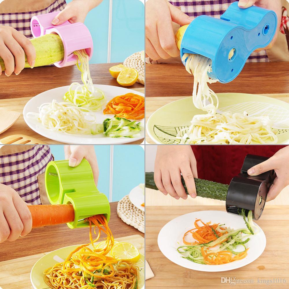 NEW Premium Vegetable Spiralizer, Spiral Slicer, Zucchini Noodle Pasta Spaghetti Spirals Maker Julienne Cutter Peeler