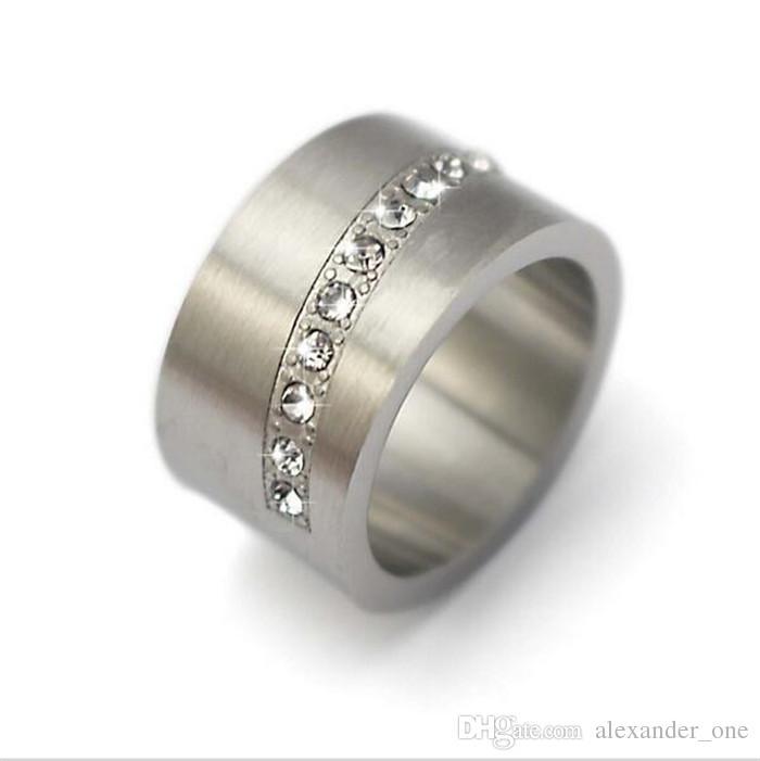 vendita all'ingrosso Gioielli in argento con pietre preziose gioielli romantici economici promessa grandi anelli di nozze con acciaio inossidabile