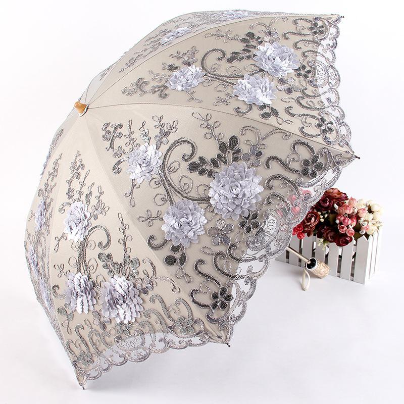 Atacado duplo ensolarado ou chuvoso High-grade rendas BM1615 guarda-sol proteção uv vinte por cento sombrinha