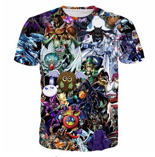La última moda para mujer / para hombre Duel Monsters Elf Summer Style manga corta Funny 3D Imprimir camiseta casual TX0097