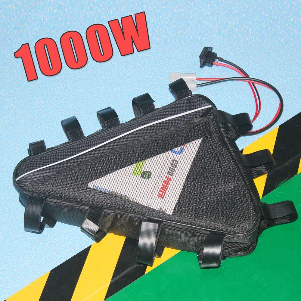 Çanta Ücretsiz kargo ile 52V üçgen pil 51.8V 30AH elektrikli bisiklet 2000W Lityum iyon pil