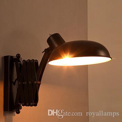 Склад Rustic Выдвижной настенный светильник Лофт Железный Бар светильник в японском стиле Промышленный бра Ресторан Ретро светильники Arandela
