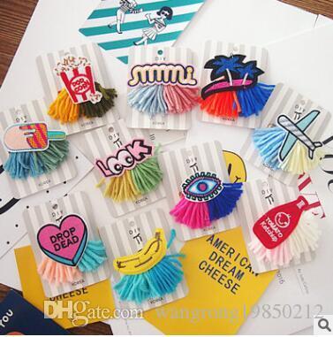 Broche et petits objets de bijoux de mode de couleur de contraste de la livraison de mélange de goupille d'art de gilet d'insigne de tissu