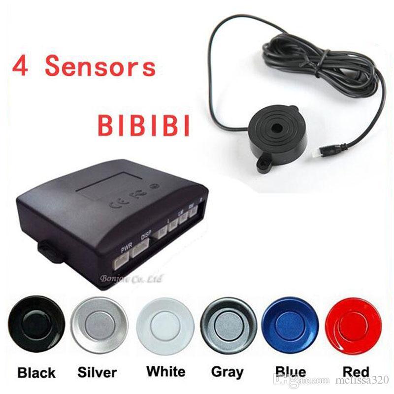 Capteur de stationnement de voiture Kit de capteur 4 capteurs d'indicateur sonore 22mm 12V 7 couleurs inversé système de surveillance