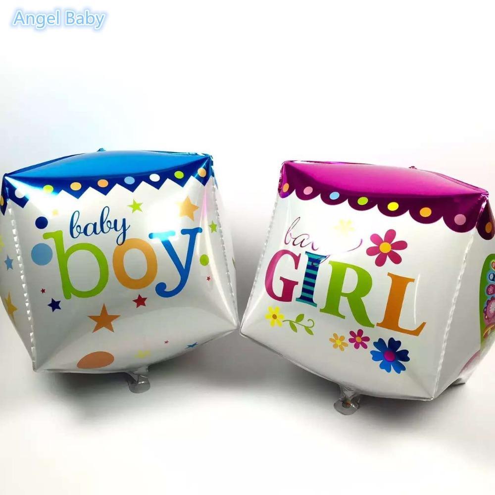 Новый !! 20 шт. / лот с Днем рождения квадраты воздушные шары куб гелий баллон день рождения ребенка душ поставки украшения партии воздушный шар