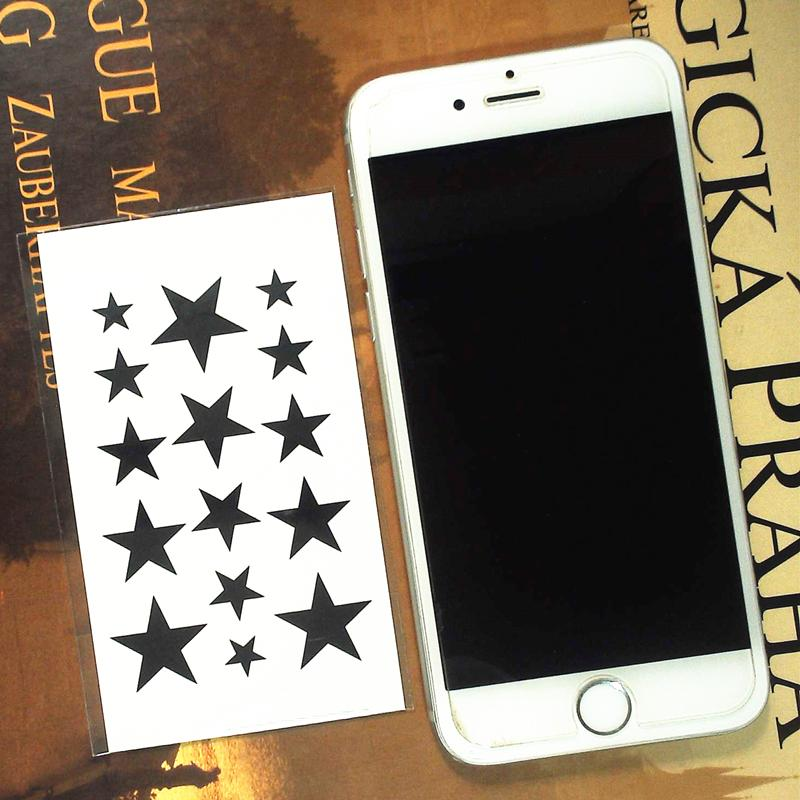 6f9e64854 Wholesale Black Star Flash Tattoo Hand Sticker 10.5*6cm Small Waterproof  Henna Beauty Temporary Body Tattoo Sticker Art Removable Tattoos Remove  Temporary ...