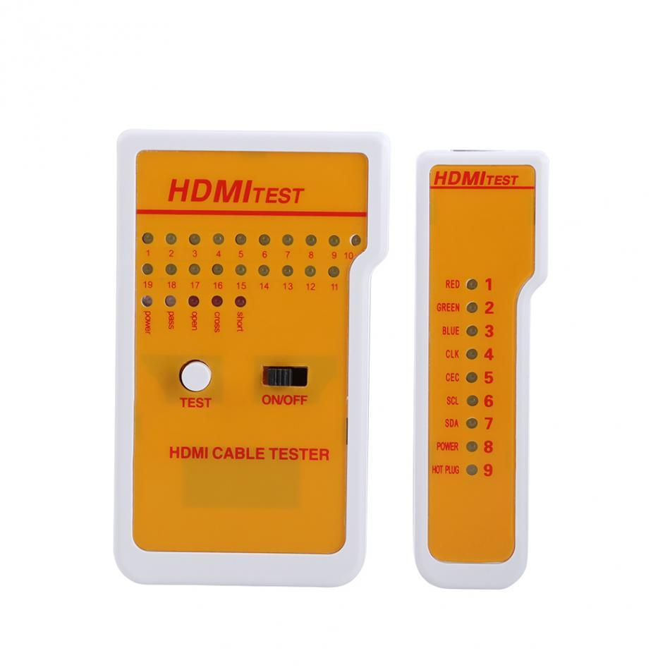 Freeshipping Portable H-DM-I Tester High Definition Remote Cable Tester Tool Network Tools with 9 LED Indicators