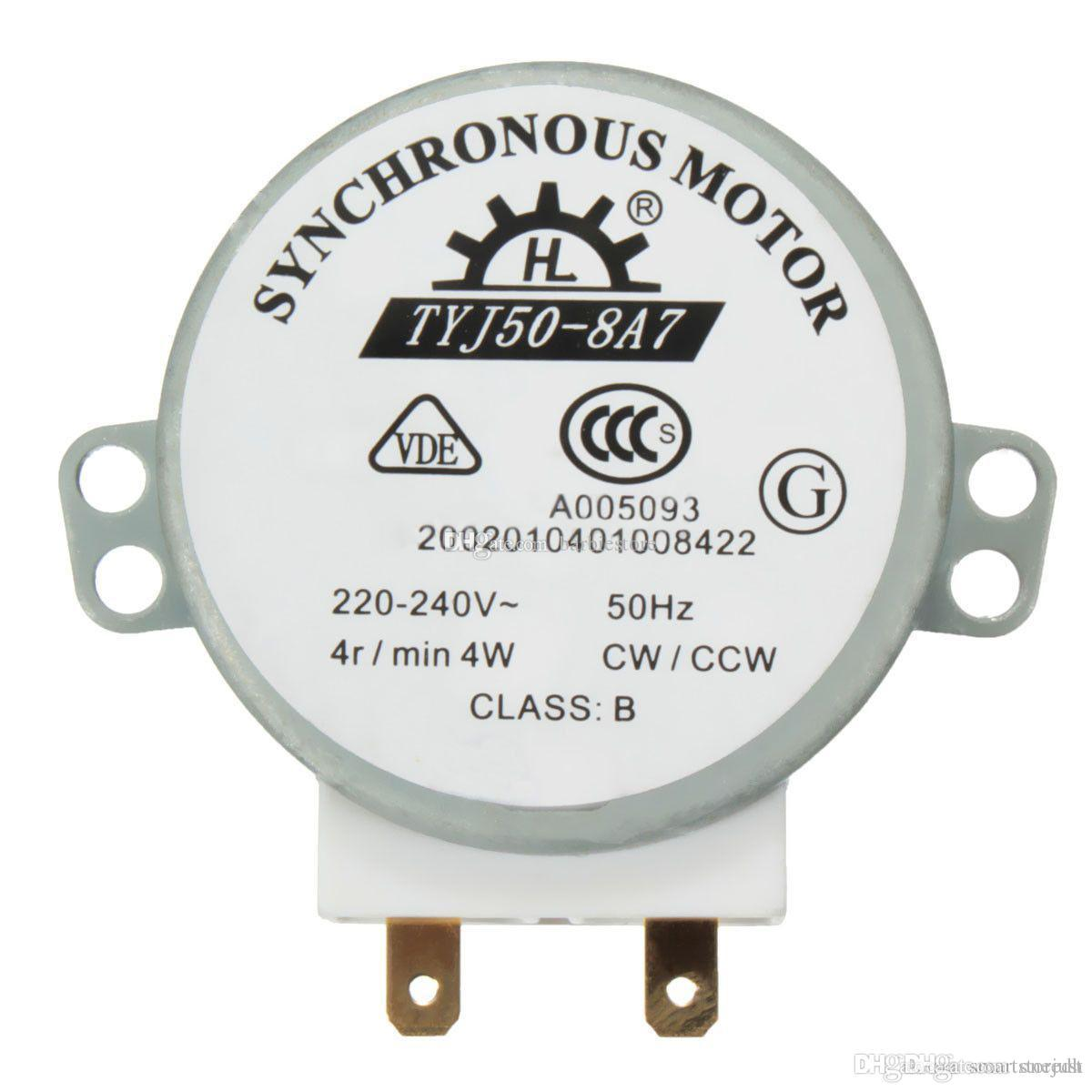 Giradischi Microonde Giradischi Motore sincrono TYJ50-8A7 D Albero 4 Giri B00237 JUST