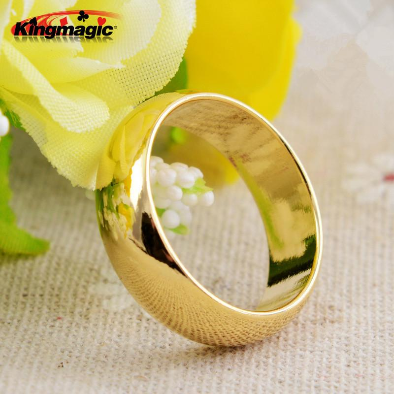 Gold Cambered PK Ring Strong Magnetic PK Ring Magic Show Magic Props Magic Tricks Size 18 19 20 21mm