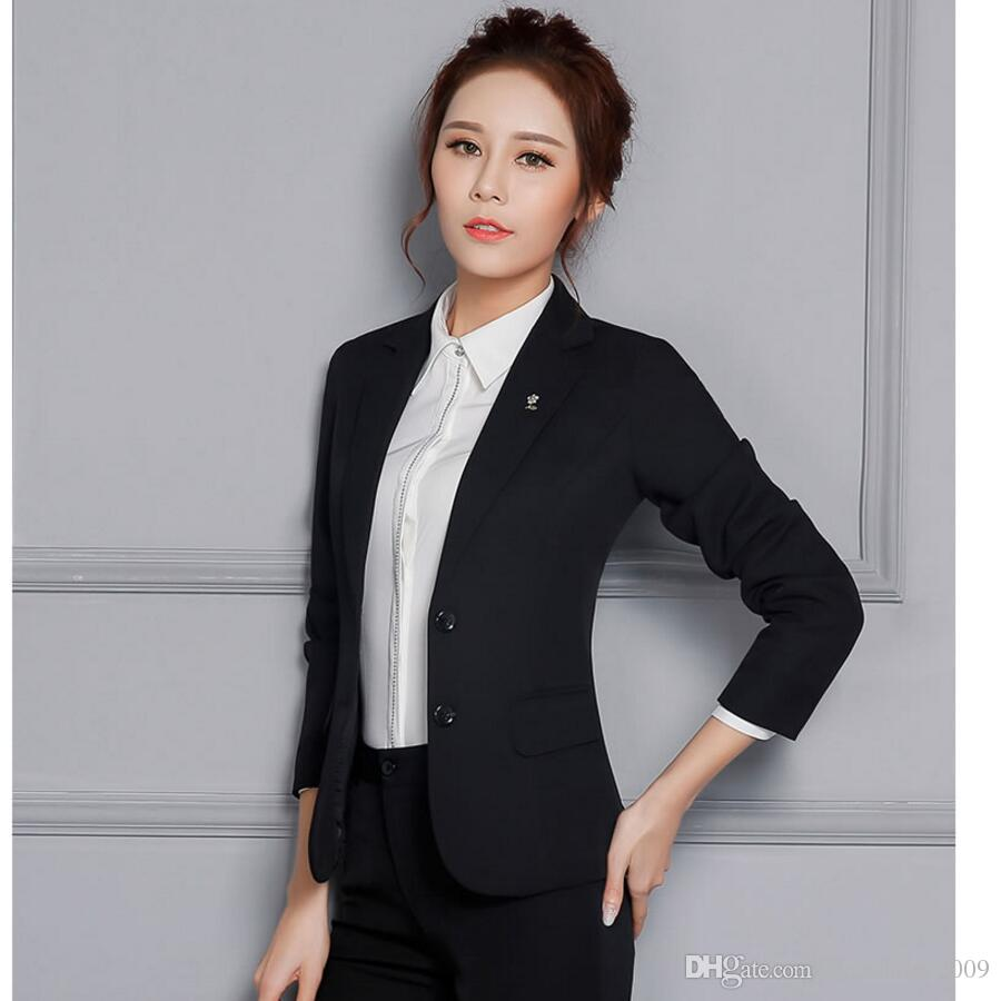 provide large selection of buy sale closer at 2019 Latest Fashion Lady Suits Business Classic Designs Two Grain Of Buckle  Suit With Pants Women Long Sleeve Lapel Suit From Easyshop_2009, $90.71    ...