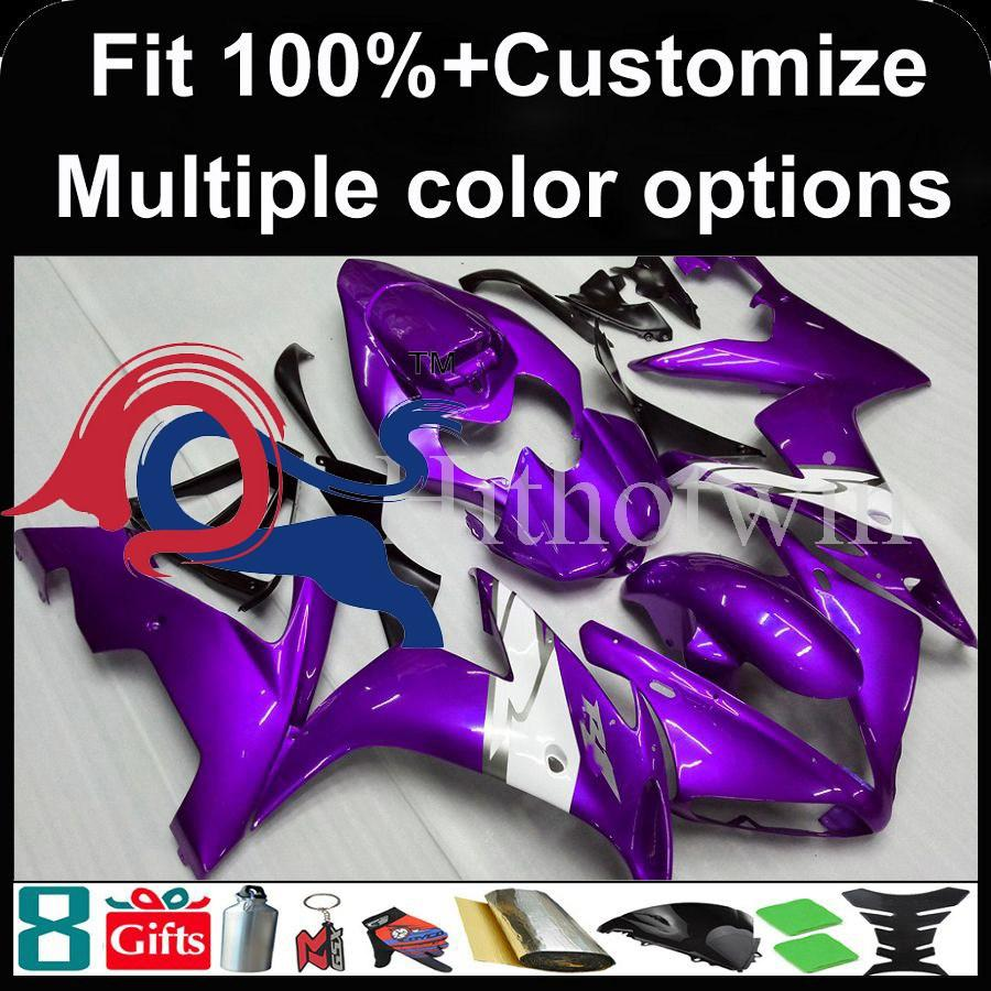 Injection mold Dark purple motorcycle cowl for Yamaha YZF-R1 2004-2006 04 05 06 YZFR1 2004 2005 2006 ABS Plastic Fairing