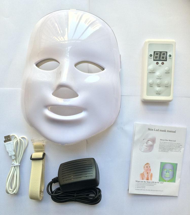 2017 Nueva máscara facial DEL LED luz de la piel máscara led manual Photon Rejuvenecimiento de la piel removedor de acné máquina de la belleza
