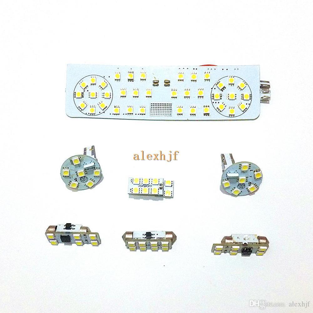 حافظة أضواء القراءة الداخلية LED لشاحنة يوليو / تموز من فولكس واجن جولف MK6 2008 ~ 12 ، 7 جهاز كمبيوتر شخصى / مجموعة ، 6000K أبيض 72LEDs 5050SMD
