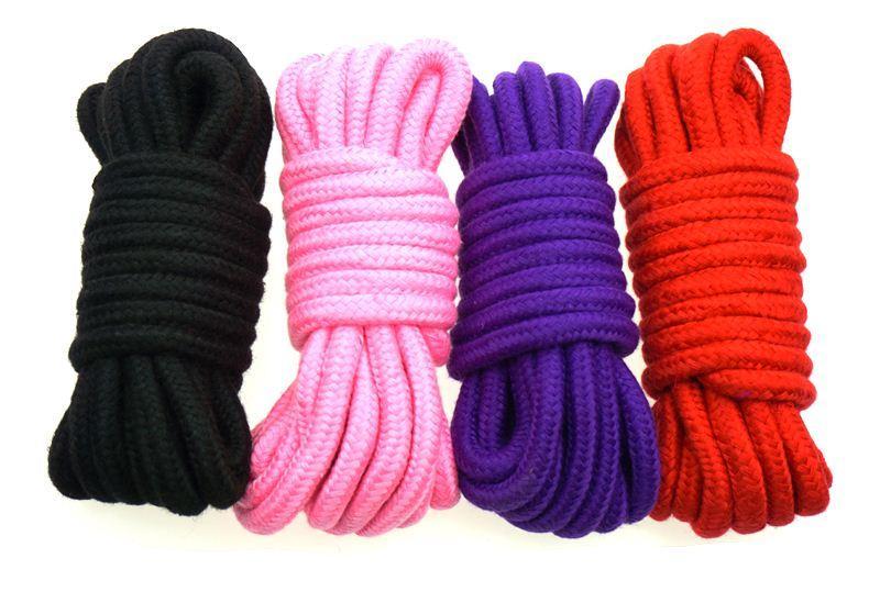 1 Pcs 5m Bondage Rope Adult Erotic Toys Sex Products , Fetish Soft Cotton Rope Slave BDSM Bondage Sex Toys For Couples Games q0511