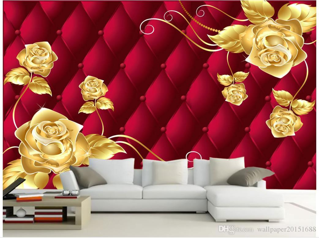 Top Classic 3d European Style Golden Flowers Rich And Elegant 3d Background Wall Wallpapers In Hd Wallpapers Mobile Hd From Wallpaper20151688 16 39