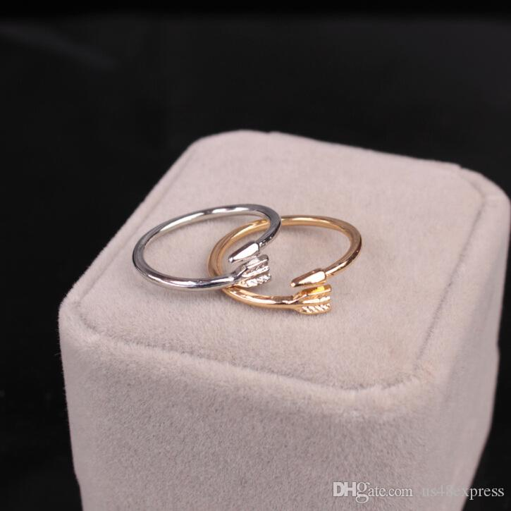FINE ARROW RING in Silver, Gold or Rose Gold Plate. Thumb/Wrap ADJUSTABLE Love for mon girlfriend gift free shipping