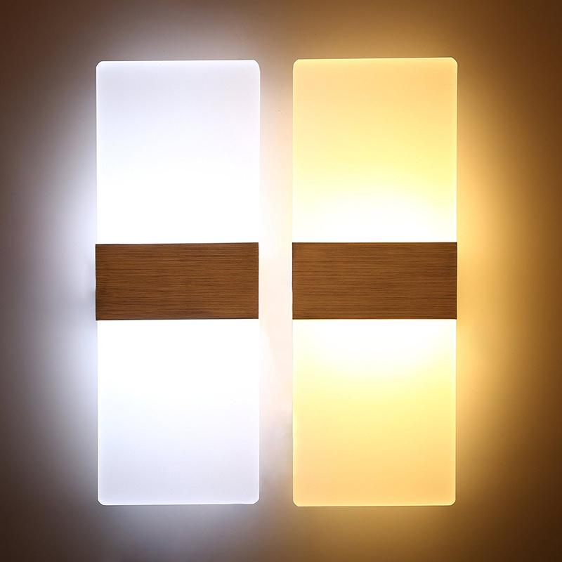 1PC Modern Acrylic 3W LED Wall Sconces Aluminum Lights Fixture Up and Down Light Decorative Lamp Night Light for Pathway, Staircase, Bedroom