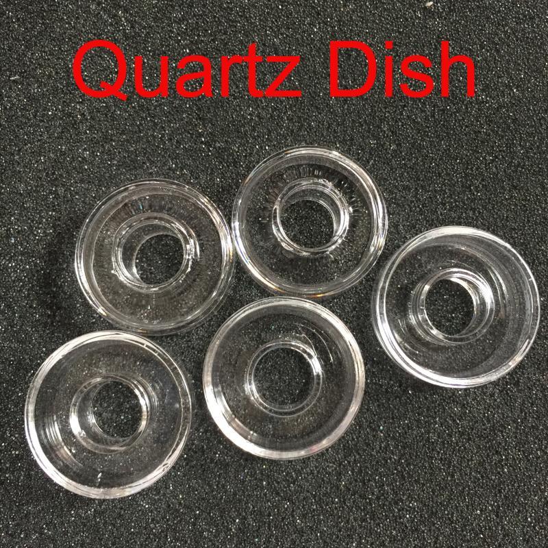 100 % 진짜 석영 교체 석영 접시 티타늄 네일 하이브리드 손톱 봉 도구에 대한 고품질의 유니버설 석영 요리 25mm 22mm