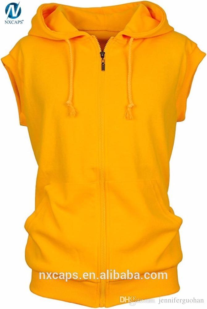 first look skilful manufacture drop shipping 2019 Custom Sleeveless Hoodie Cotton Sports Vest Sleeveless Hoodies For Men  Zip Up Hooded Sweatshirt Blank Hoodie Vest From Jenniferguohan, &Price; |  ...