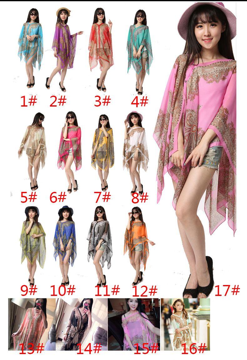 النساء الشيفون شال بحر ازياء ربيع جديد 2017 أزياء المرأة الحرير وشاح الشيفون وشاح شالات W006