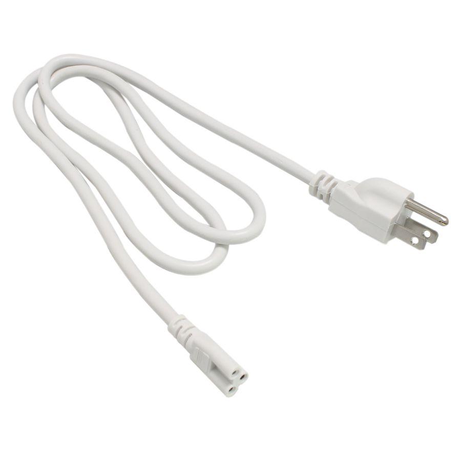 T5 T8 연결 와이어 전원 코드 표준 미국 플러그 T5 T8 통합 led 튜브 3 구 150cm 흰색 케이블