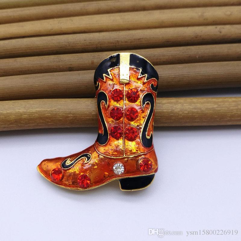 5PCSNew-Jahr-Reihen-Metalltropfen-Band-Bohrgerät-Weihnachtsmann-Stiefel Doppelt-verwenden Sie Broschen-Schmuck-Geschenke Weihnachtsdekorative Broschen