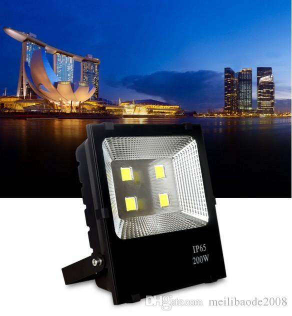 luci di inondazione del bianco 200W LED illuminazione esterna 110-240V di CA IP65 riflettore impermeabile impermeabile esterno della lampada da parete proiettori LLFA