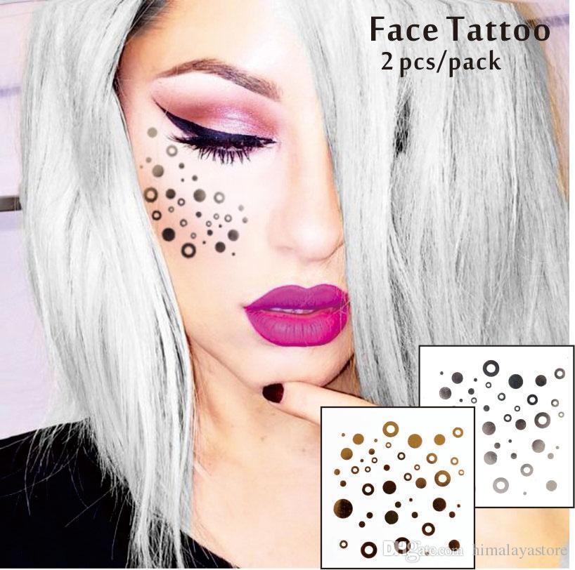 # F04 Татуировки для лица, нетоксичные и водостойкие круглые очки, блеск для макияжа, Jazz Aspen Snowmass