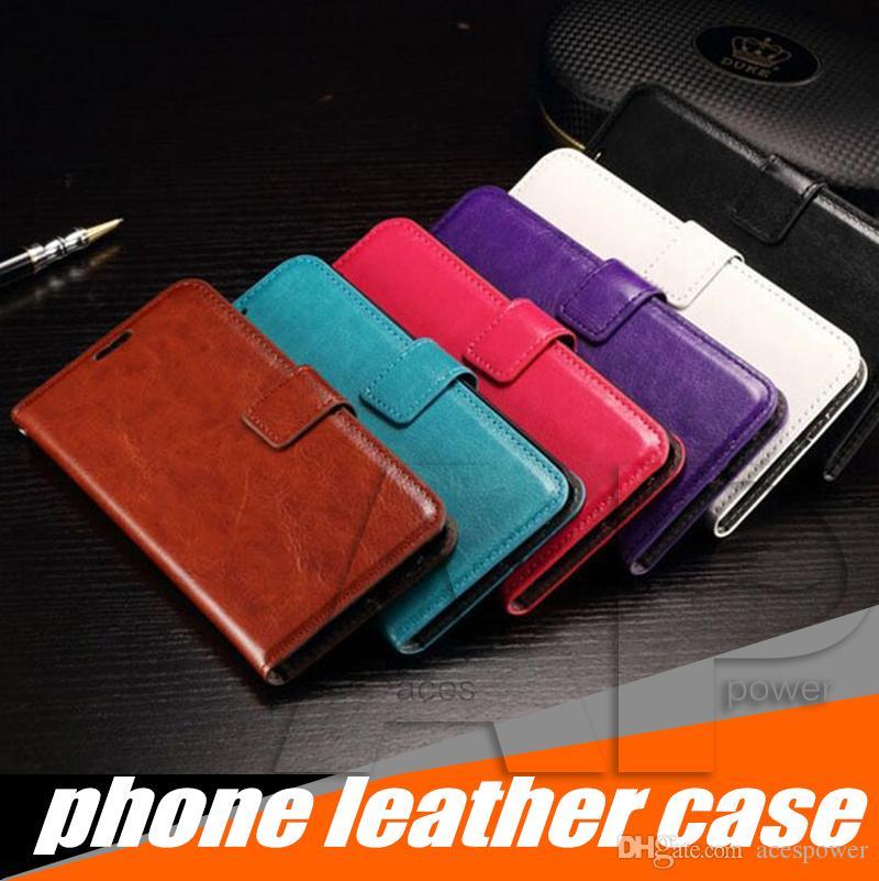 Porte-monnaie en cuir PU Housse couverture avec fente pour carte Cadre photo pour Iphone 11 Pro Max XR Samsung Galaxy Note 10 S20 plus