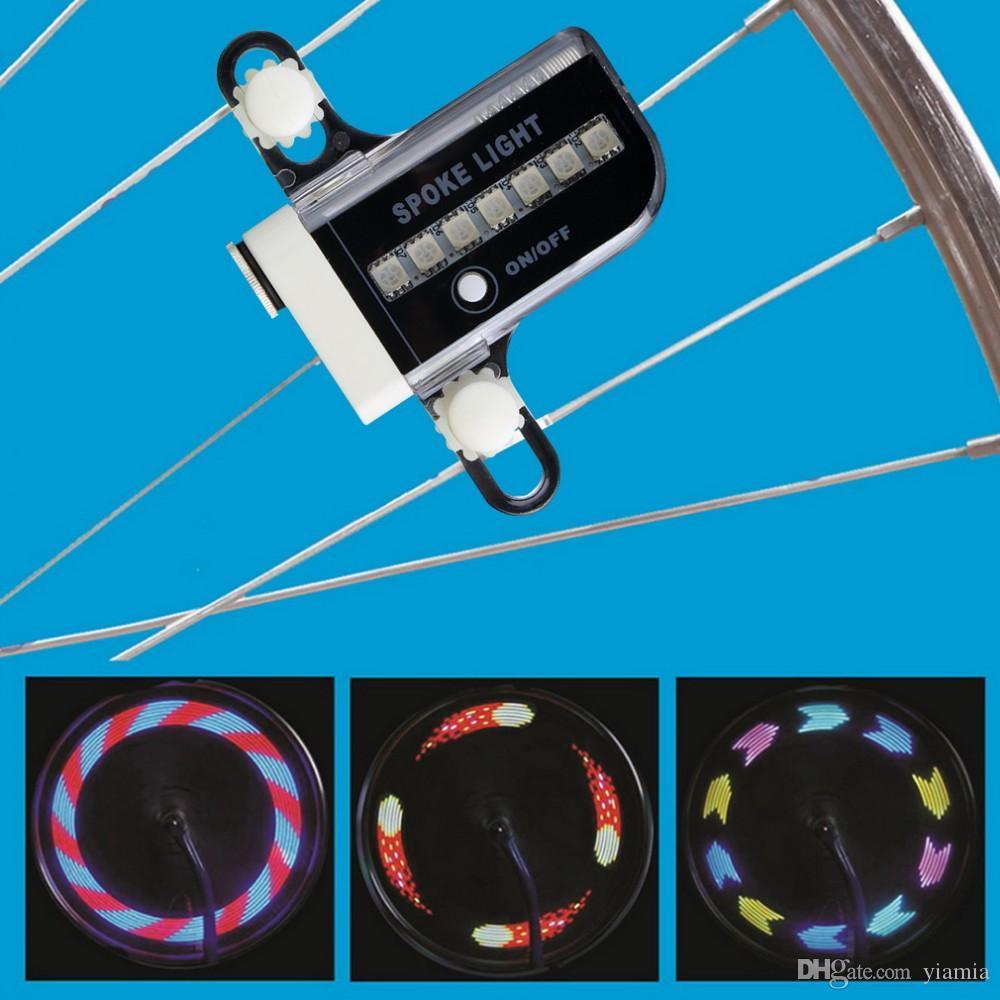 Two Side Gofuly 14 LED Moto Cyclisme Vélo Vélo Signal De Roue Pneu Spoke Light 30 Changements Livraison Gratuite
