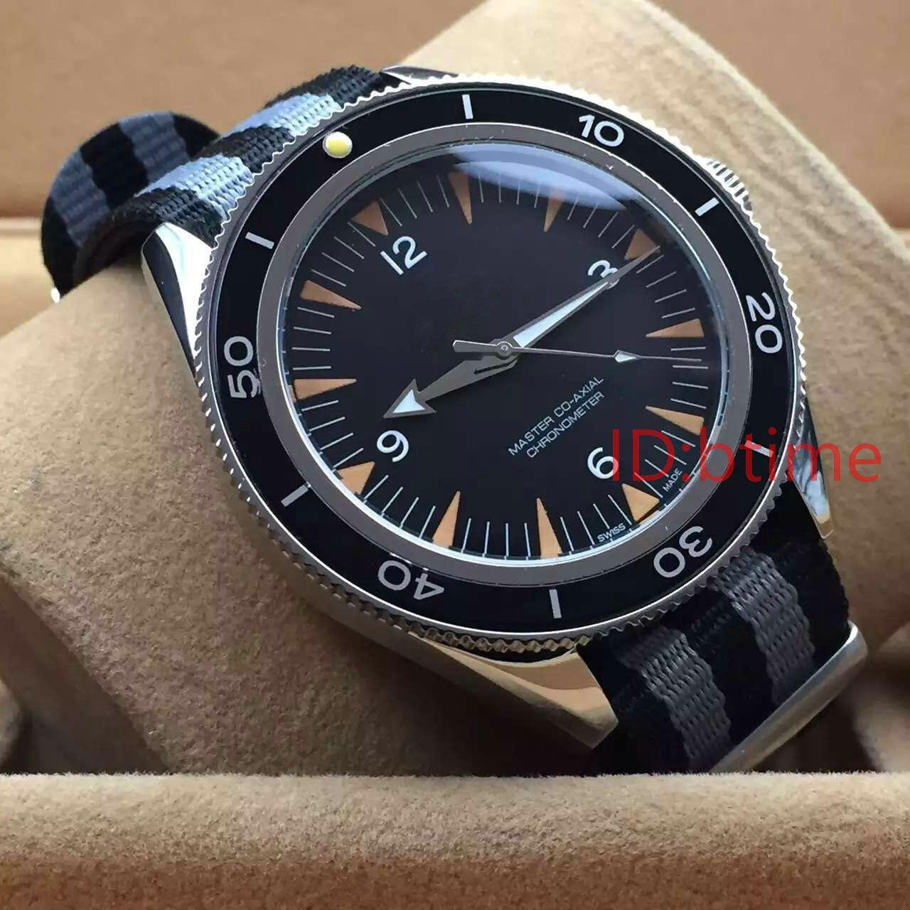 I nuovi uomini meccanici 300 Maestro Co-Axial 41 millimetri Gents orologi automatici James Bond 007 Spectre Mens orologio sportivo da polso # 6