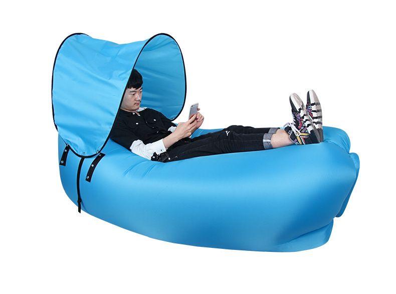 ... Inflatable Air Sleeping Bag Portable Sofa Hangout Lounger Air Boat Air  Lazy Sofa Inflate Camping Beach ...
