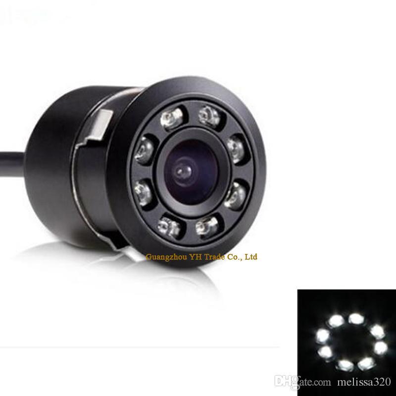170 زاوية واسعة 8 الصمام / الأشعة تحت الحمراء للرؤية الليلية سيارة اتفاقية مكافحة التصحر كاميرا الرؤية الخلفية عكس الكاميرا سيارة احتياطية