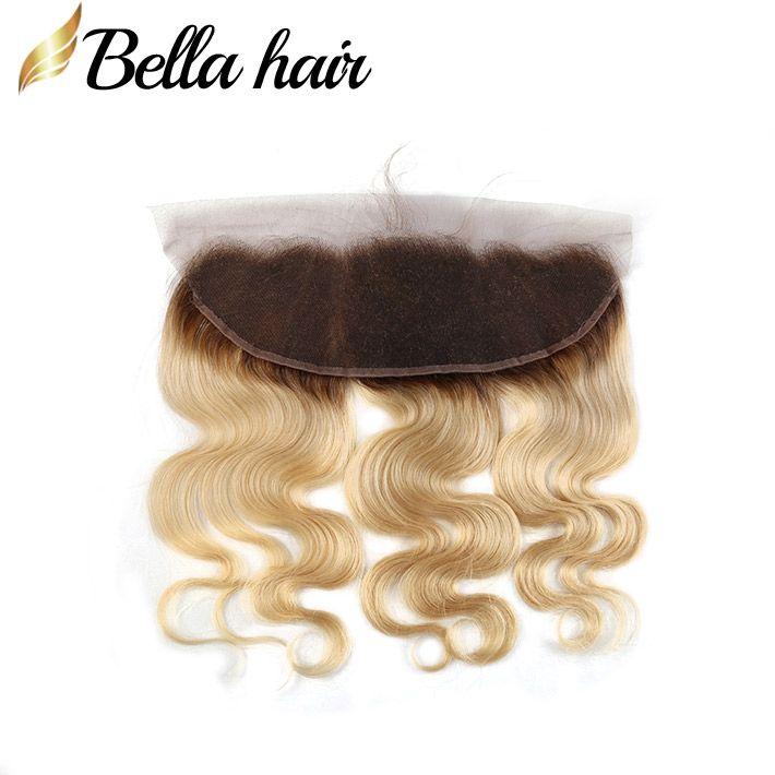 """البرازيلي العذراء الشعر البشري أمامي شقراء الدانتيل إغلاق أمامي 13x4 """"1b / # 613 اللون الأذن إلى الأذن إغلاق في الجسم الجسم موجة بيلا الشعر"""