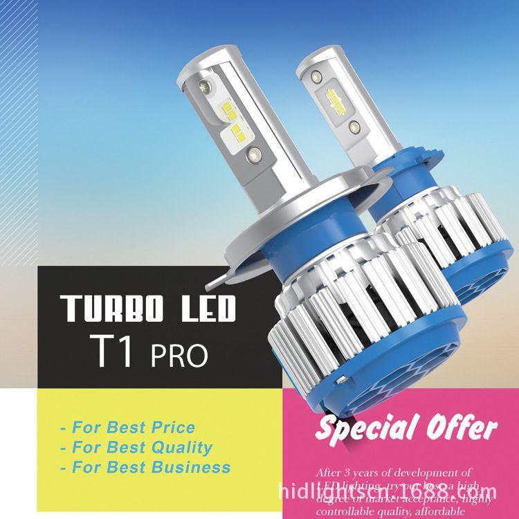 Lampadine per fari auto T1 a LED H4 H8 H7 H13 H3 Kit di conversione per fari auto super brillanti alogene H4 HB3 / 9005 HB4 / 9006 880 12V