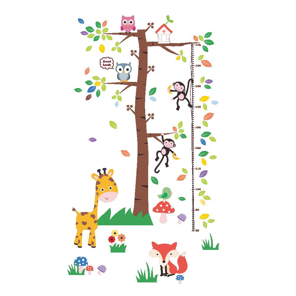 Large Tree Cartoon Animals Height Ruler Growth Chart Wall Decals Kids Room Nursery Decor Wall Stickers Art Grass Giraffe Mushroom Wallpaper All Wall Stickers Alphabet Wall Stickers From Magicforwall 9 71 Dhgate Com To get more templates about posters,flyers,brochures,card,mockup,logo,video,sound,ppt small tree growth cartoon illustration. large tree cartoon animals height ruler