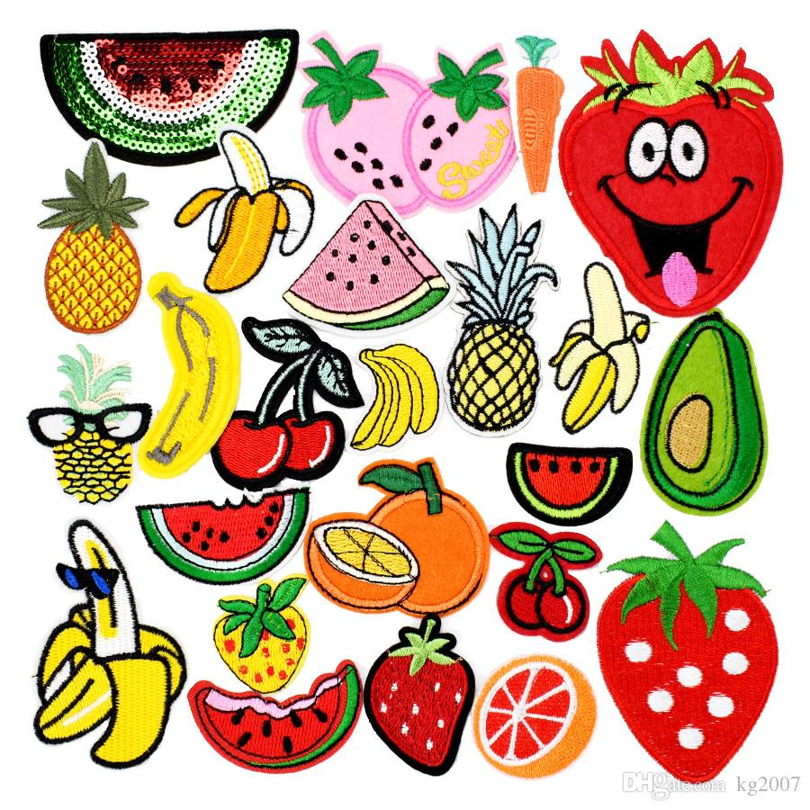 10 pcs Random Diy fruit patches for clothing iron embroidered patch applique iron on patches sewing accessories badge for clothes bag