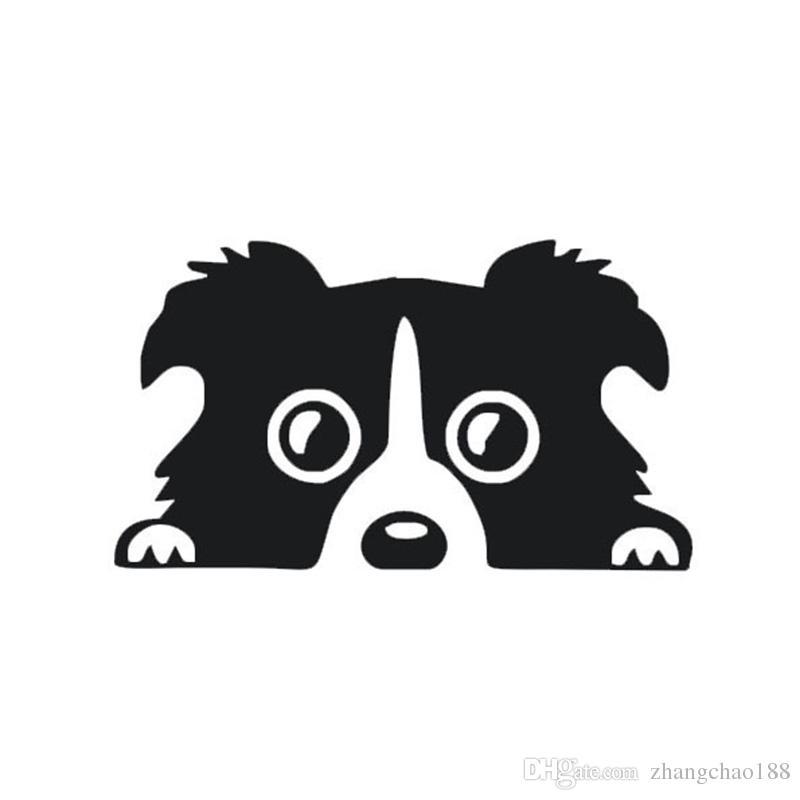 1 unid Automóviles Accesorios Exteriores Calcomanía Reflectante Del Coche 14 cm * 8 cm Diseño de Perro de Dibujos Animados Calcomanías para Vehículos Pegatinas de Vehículos Auto Pegar