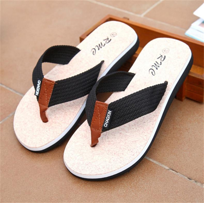 Flip Flops Men Sandals Shoes For Casual Walking Beach Slides EVA Massage Slippers Designer Flats Male Summer Mens Shoes SLM505