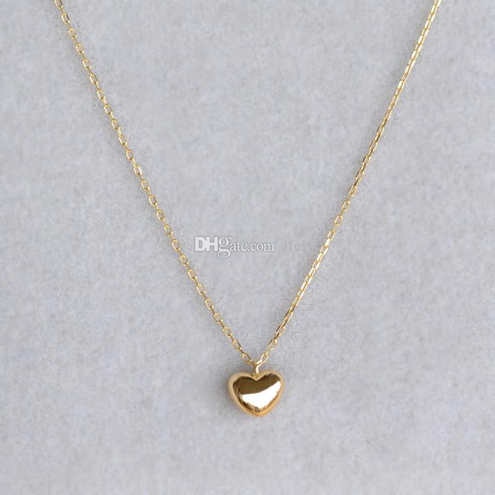 e23868fdb63 Fashion Classical cute 18K Gold Lady Heart pendant Necklaces Women  elaborate neckl Exquisite Love gold chain Chokers Necklaces Jewelry