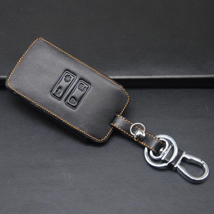 De alta qualidade de couro genuíno carro chave fob case holder bag para renault kadjar 4 botões