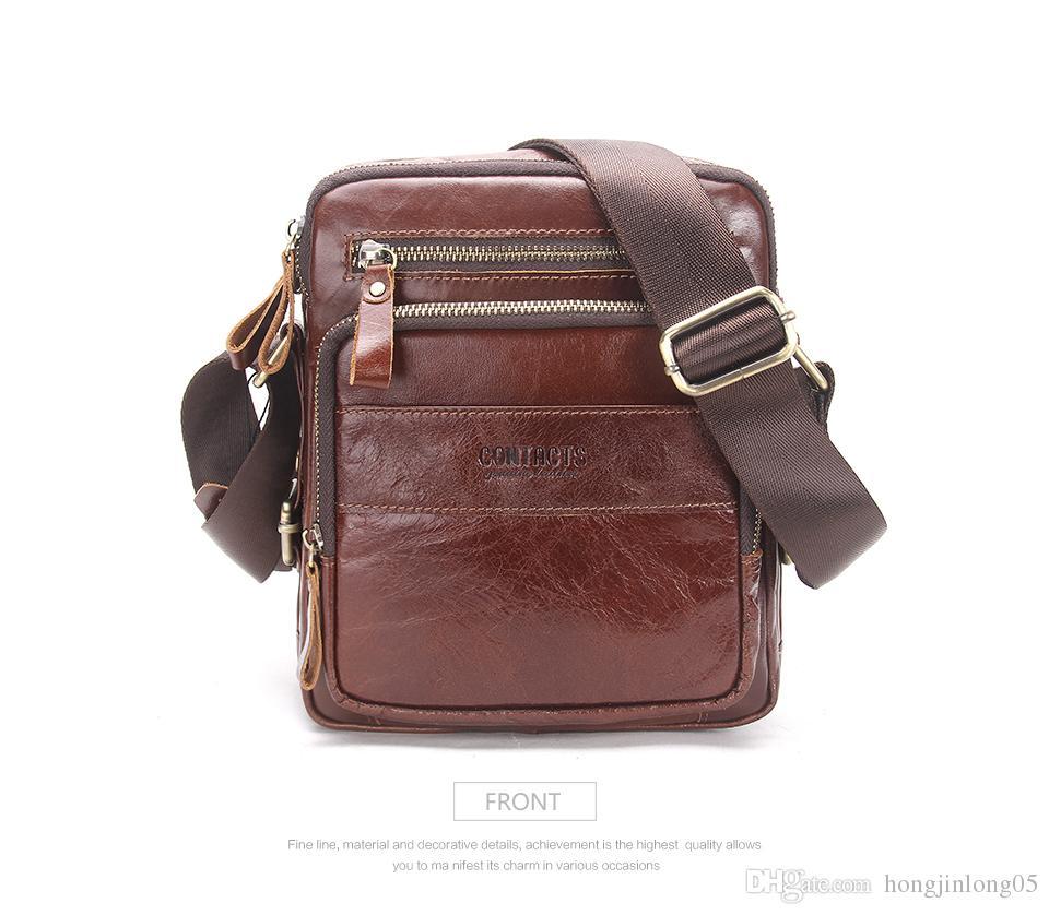HOT!! Men's Messenger Bag 2017 Spring New Arrival Genuine Leather Shoulder Bag Handbags For Men Small Male Dress Bag MB070