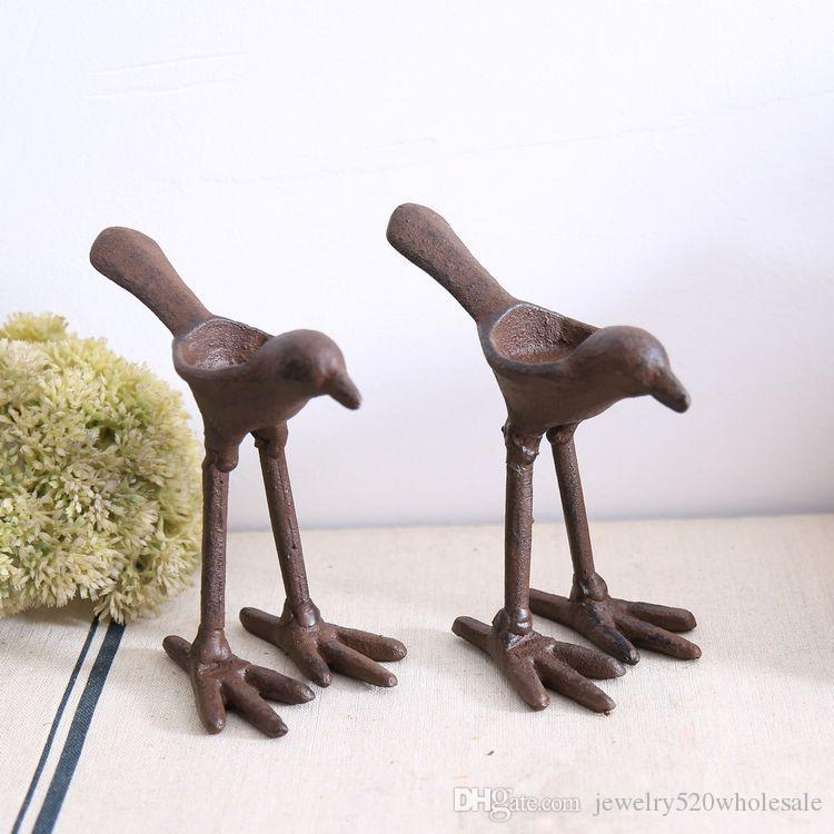 Titulares de vela de pájaro de la boda Precio de un par de hierro forjado Decoración de la vela de metal creativo Decoración de la boda Cumpleaños de la Navidad