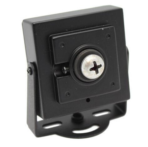cmos 800tvl 카메라, 1 / 3 '컬러 CMOS, 스크류 핀 홀 렌즈, 마이크가있는 CMOS 카메라.