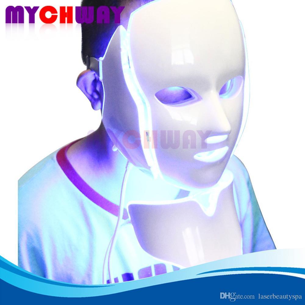 Machine portative de beauté de masque facial de masque de cou d'anti vieillissement vieillissant anti-vieillissement léger de 7 couleurs PDT pour le rajeunissement de peau