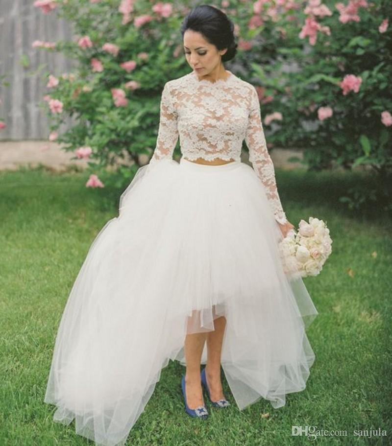 2 Piece Short Wedding Dress