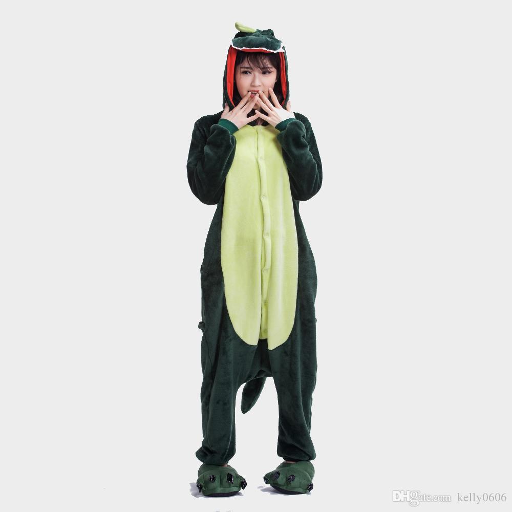 ... 2017 nuevo estilo de invierno unisex adulto franela cartoon pijama  dinosaurio Anime traje cosplay hoodie pijama ... fae8e3508336